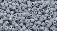 Delica 11/0 Japanese Seed Beads - 9 Gram Tubes - Opaque Gray