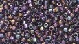 Delica 11/0 Japanese Seed Beads - 9 Gram Tubes - Amethyst/Gold Luster Aurora Borealis Finish