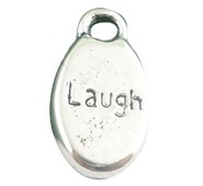 "Laugh"" Word Carved Pendant"