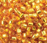 Delica 11/0 Japanese Seed Beads - 9 Gram Tubes Duracoat Silver Lined Yellow Gold