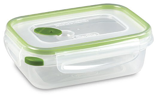 "Sterilite® Ultra·Seal™ Food Storage Containers 3.1 Cup (.7 Liters) Dimensions: 7⅛"" L x 5⅛"" W x 2½"" H"