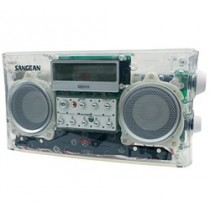 SANGEAN PR-D5CL CLEAR RADIO WITH ANTENNA REMOVED