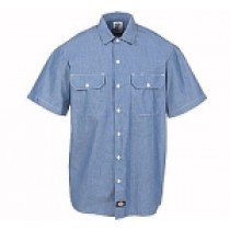 Dickies® Chambray Shirts (Short Sleeve)