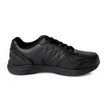 Genuine Grip Men's Lightweight Black Athletic Shoes - Wide Width
